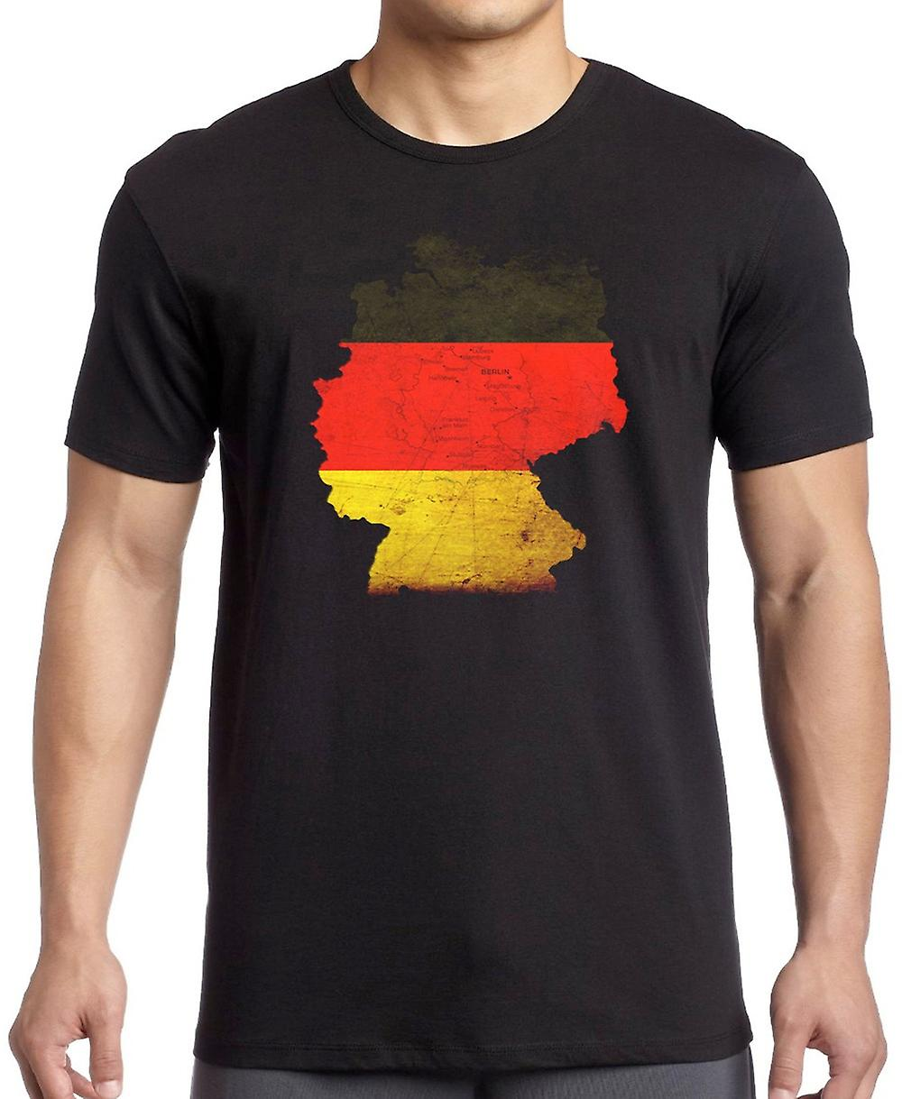 German Germany flag Map -  Kids T Shirt