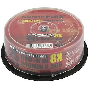 Aone DVD+R 8x Write Blank Discs 8.5GB DL Dual Layer Full Inkjet Printable 25pcs/cake box (50 Discs) OVERBURN (AOne+ Plus Gold)