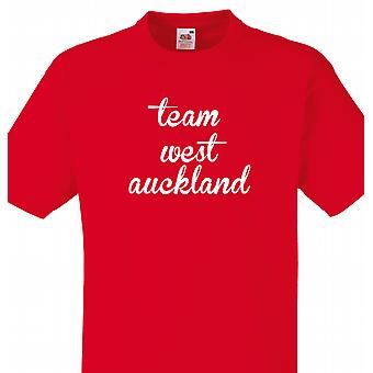 Team West auckland Red T shirt