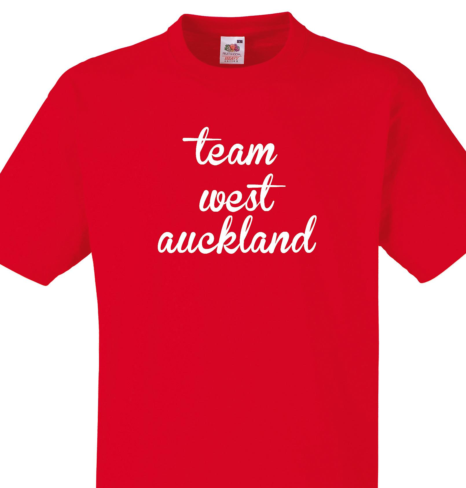 Team West auckland Red T shirt