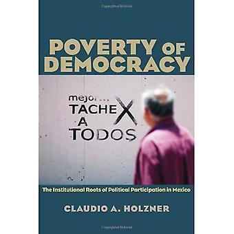 La povertà della democrazia: le radici istituzionali della partecipazione politica in Messico (Pitt serie latino-americano)