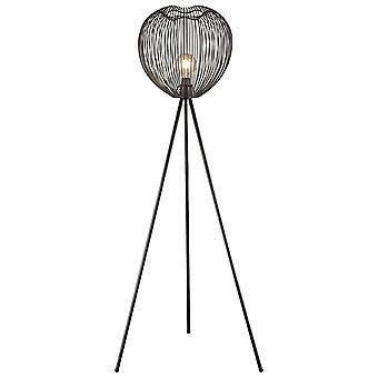 Spring Lighting - Leeds Matt Black Floor Lamp  EPMM040NC1GMPM