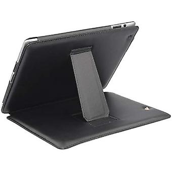 TRIXES Stylish Black Soft Faux Leather Cover Case for Apple IPad 2
