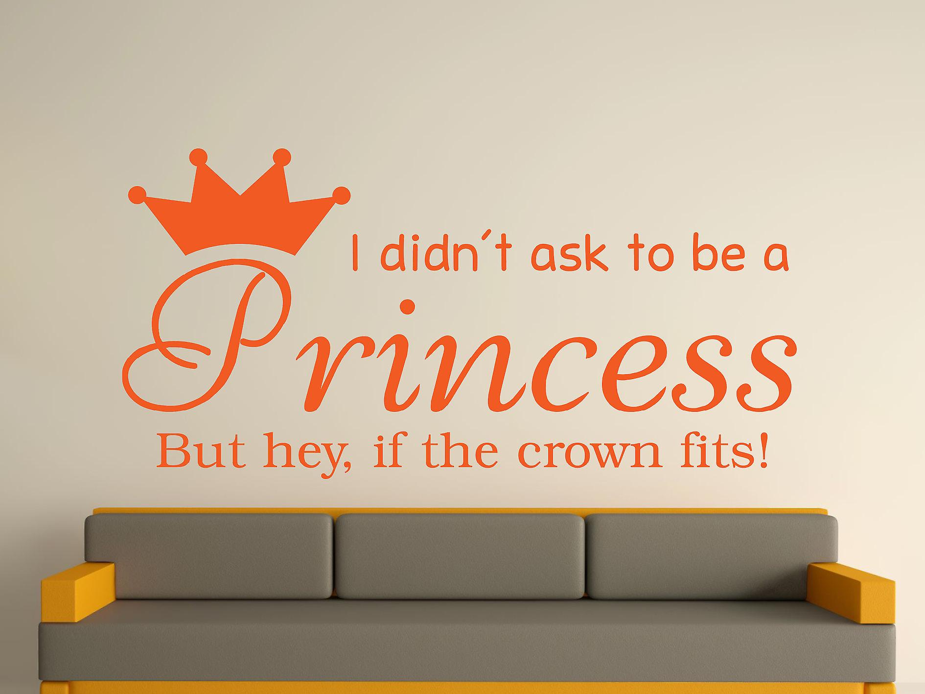Being A Princess v2 Wall Art Sticker - Orange