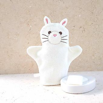 Snowdrop Kitten bath mitt