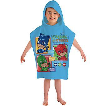 PJ Masks Pyjamashjältarna Badponcho Poncho towel 115 * 50 cm