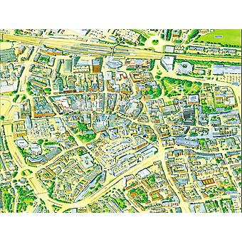 Cityscapes Street Map Of Reading 400 Piece Jigsaw Puzzle 470mm x 320mm (hpy)