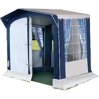 OLPRO Leinwand Loira Kitchen Tent Blue White Fully Waterproof With Taped Seams