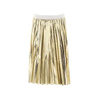 P.a.r.o.s.h. Parking Gold Polyester Skirt