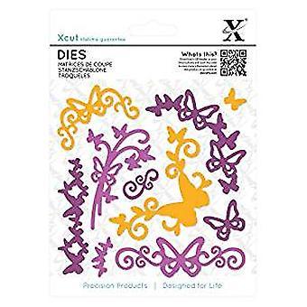 Xcut Dies (10st) - Butterfly bloeien (XCU 503303)