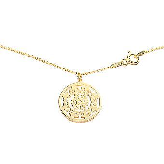 Ah! Bijoux 24K or vermeil sur argent sterling ouvert travail cercle collier, estampillé 925.