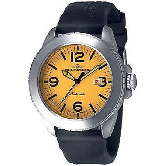Zeno-watch mens watch yellow Jumbo biker automatic 6412-i9