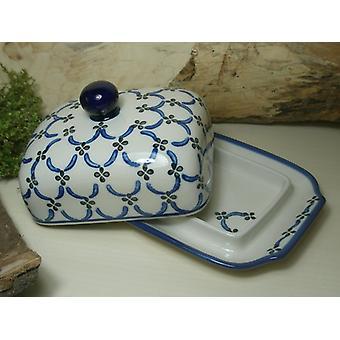 Butter dish, 250 g, tradition 25 - boleslawiec aardewerk - BSN 6882