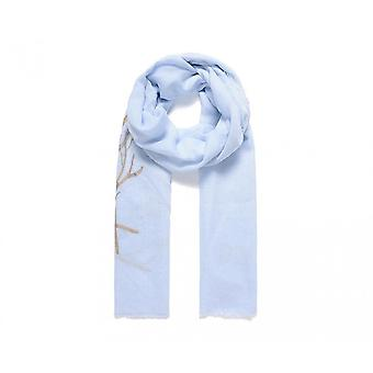 Intrigue Womens/Ladies Embroidered Branch Scarf