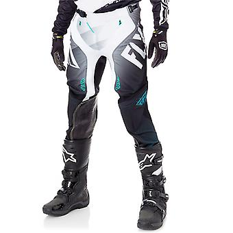 Fly Racing Black-White-Teal 2017 Lite Hydrogen MX Pant