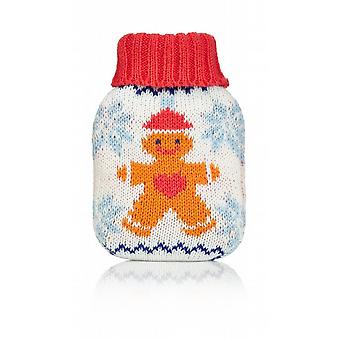 Mini Hottie Knitted Cover Gel Hand Warmer: Gingerbread Man