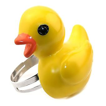 Yellow Resin Yellow Duck Adjustable Ring