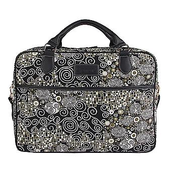 Gustav klimt - kiss laptop bag by signare tapestry / 15.6 inch / cpu-kiss