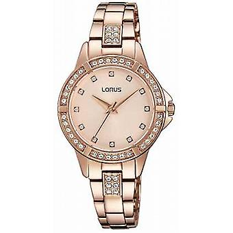 Lorus Womens Rose Gold Plated Rose Gold Dial RG270KX9 Watch