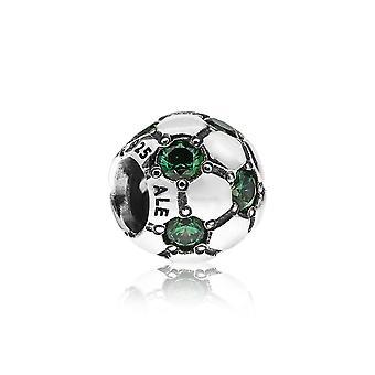 Pandora Football Silver & Green CZ Encanto 790444CZN