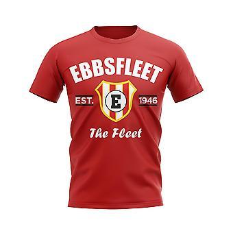 Ebbsfleet etablerad fotboll T-shirt (röd)