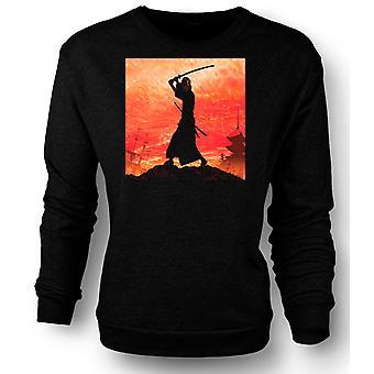 Womens Sweatshirt Samurai Fighter