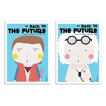 2 Art-Posters 30 x 40 cm - Duo Back to the Future - Ninasilla