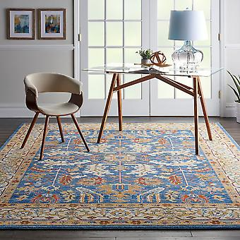 Majestic Nourison MST02 Denim Blue  Rectangle Rugs Traditional Rugs