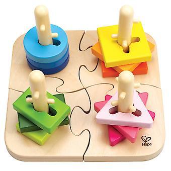 Puzzle creativo de Peg Hape E0411