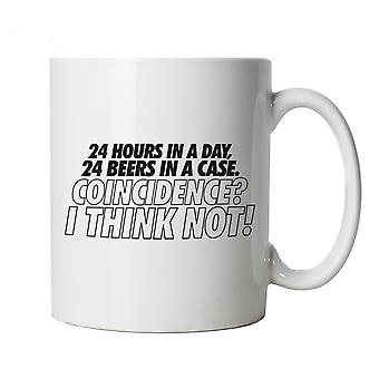 24 Hours In A Day Funny Mug | Drink Beer Wine Cheers Celebrate Tipple Snifter | Beer Ale Brewing Distillery Hops Tap Pint Mild | Drinking Funny Cup Gift