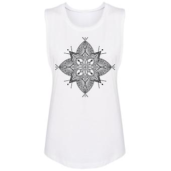 Abstract Mandala Muscle Tank Women's -Image by Shutterstock