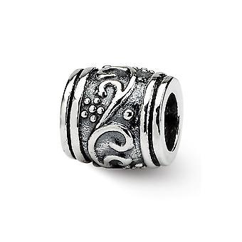 925 Sterling hopea antiikki viimeistely heijastukset SimStars kukka helmi charmia