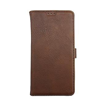 iPhone 6/6s Leather Vegetable Tan Folio Slider Case Brown