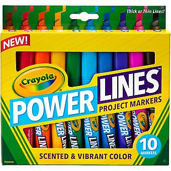 Crayola Power Lines Project Markers-10/Pkg 58-8194