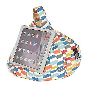 iBeani iPad, Tablet & eReader Bean Bag Stand / Cushion - Brushstroke Orange