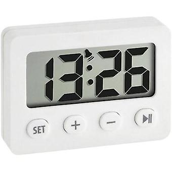 Quartz Alarm clock TFA 60.2014.02 White Alarm time