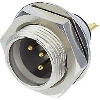 XLR connector Plug, vertical mount Number of pins: 5 Silver Rean AV RT5MPR 1 pc(s)
