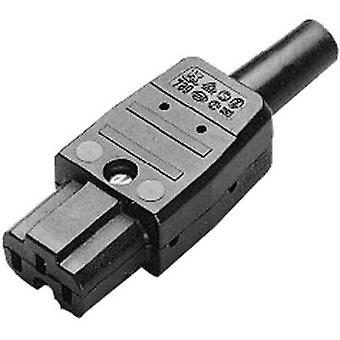 Hot wire connector C15A Series (mains connectors) 789 Socket, straight