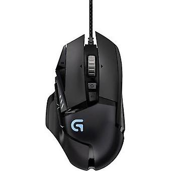 USB gaming musen optiske Logitech Gaming G502 Proteus spektrum RGB dødgang, vekt trimming svart