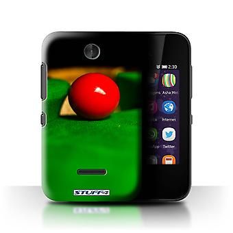 STUFF4 Case/Cover for Nokia Asha 230/Red Ball/Pocket/Snooker