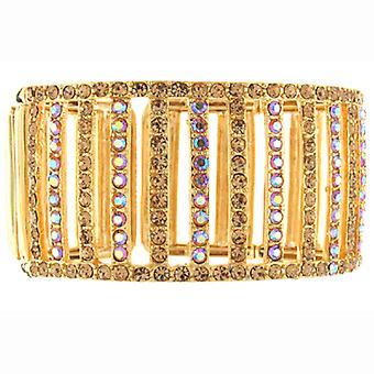 Gold & Topaz Swarovski Crystal Zeile Armreif