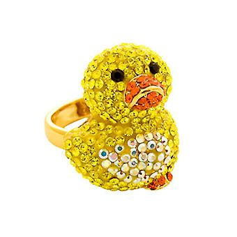Butler & Wilson Crystal Chick Duck Adjustable Ring