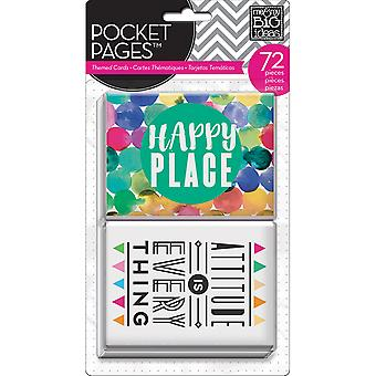 Me & My Big Ideas Pocket Pages Themed Cards 72/Pkg-Abstract Art TPC-32