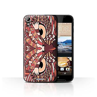 STUFF4 Case/Cover for HTC Desire 830/Owl-Red/Aztec Animal
