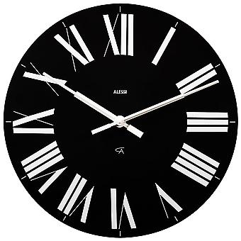 Alessi Firenze Black Wall Clock
