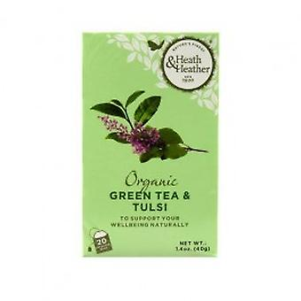 Heath & Heather - Organic Green Tea & Tulsi 20 Bag