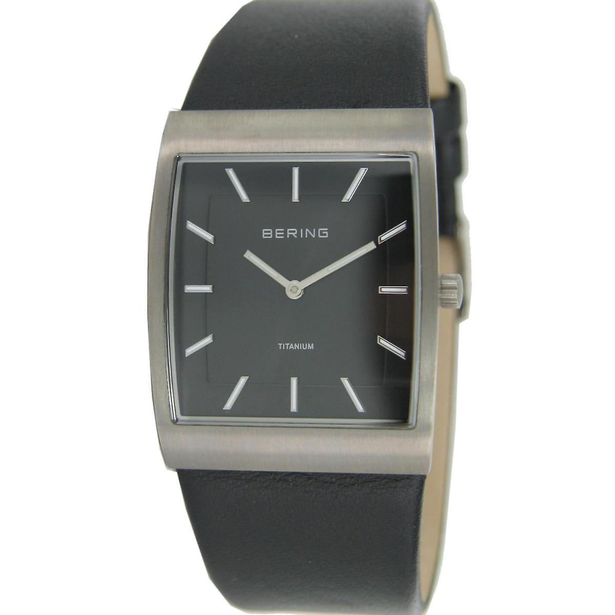 Bering unisex wristwatch slim classic watch 11233-402 leather