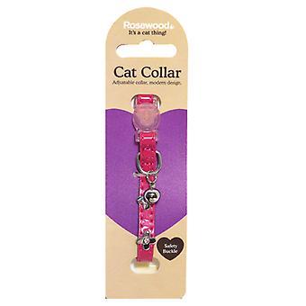 Catwalk Designer katt krage elektriska rosa (förpackning med 3)