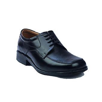 Amblers Mens Birmingham Lace Gibson Shoes Leather PVC Lace Up Fastening Footwear