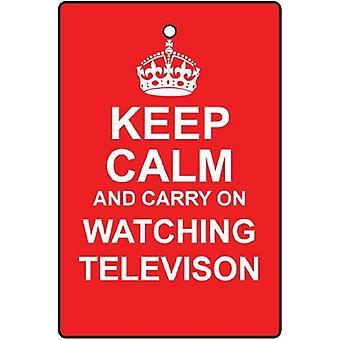 Keep Calm And Watch TV Car Air Freshener